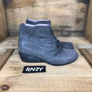 Dansko Leather Zip Up Ankle Boot